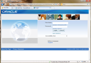 SkySys - Oracle Applications EBS 12.1.3 Login page